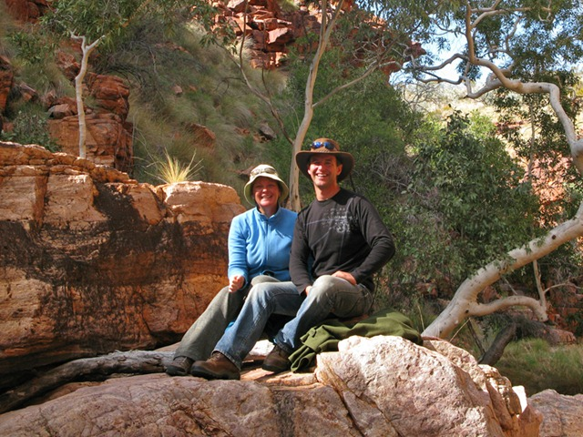 Andrew and Therese near John Hayes Rock Hole