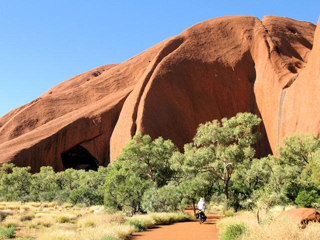 Dwarfed by Uluru