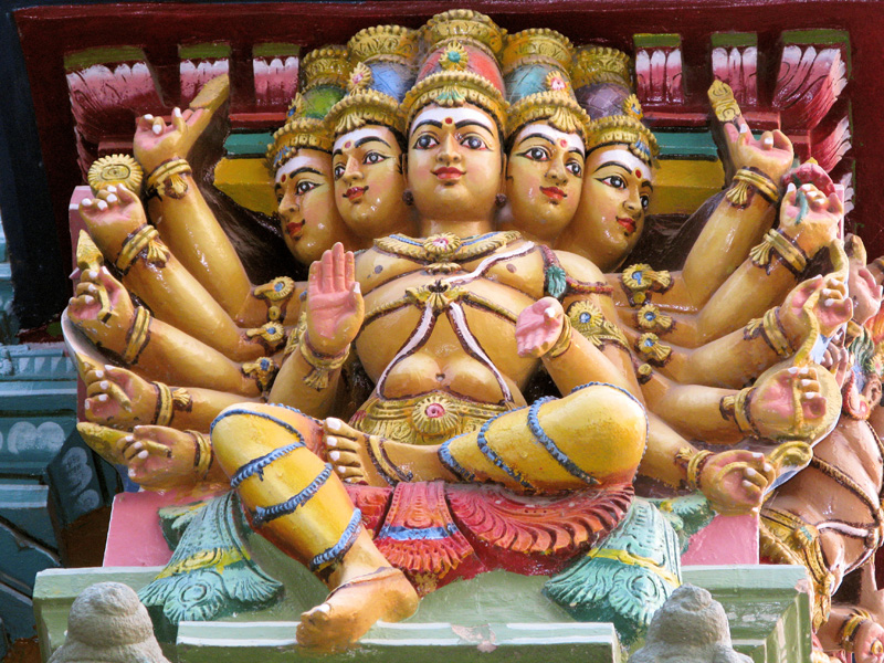 Multi-armed deity statue