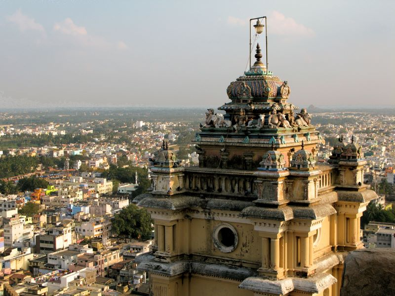 View from Rock Fort temple in Trichy