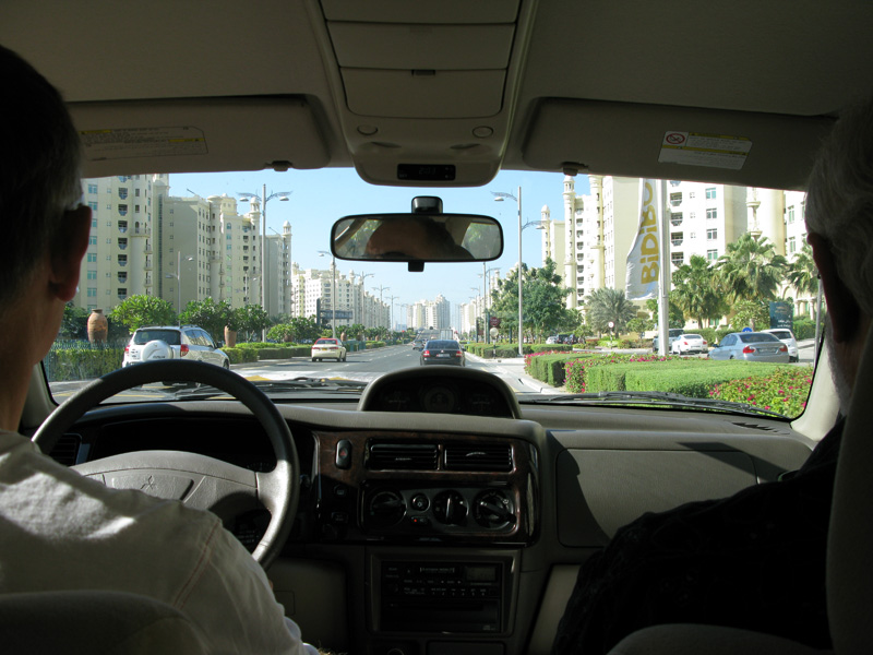 Driving through Dubai