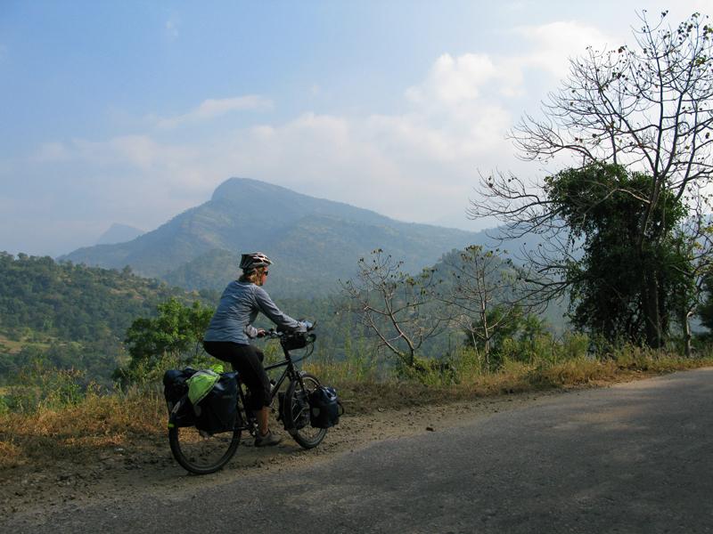 Cycling up to Marayoor